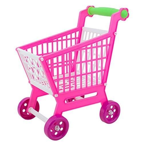 Demiawaking 子供 ままごと 玩具 ショッピングカート 組み立て式 おもちゃ 手押し車 ピンク