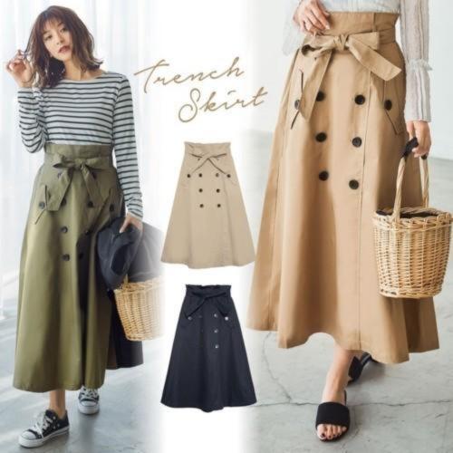 フレアトレンチスカート