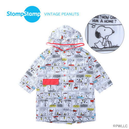 Snoopyコミックプリントレインコート