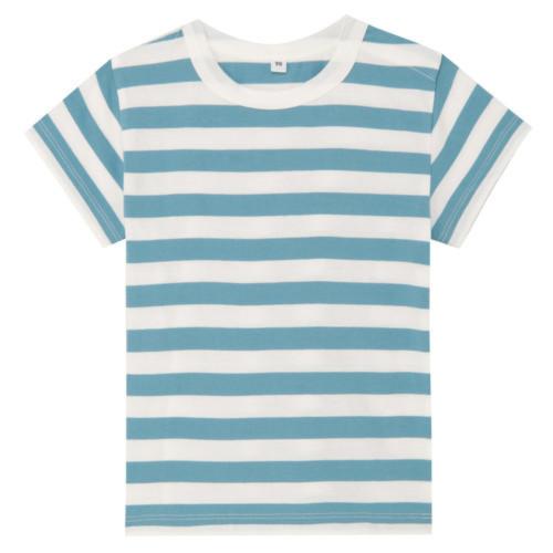 毎日のこども服オーガニックコットンしましま半袖Tシャツ