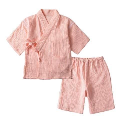 ピンク甚平上下セット