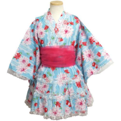 大判花柄 浴衣ドレスセット