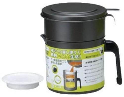 高木金属 フッ素コート 活性炭油ろ過ポット ポット 0.9L KRP-0.9