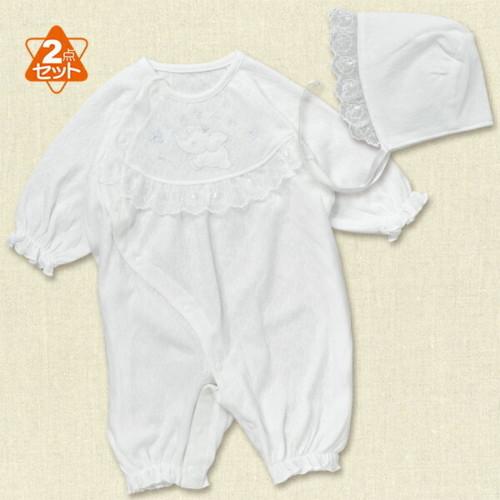 フード付きセレモニードレス(ゾウ刺繍)