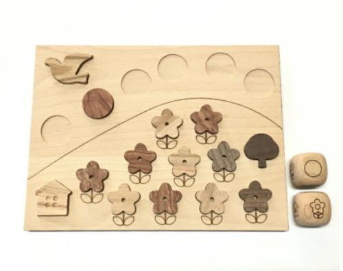 初めての仲良しデビュー・木製パズルゲーム