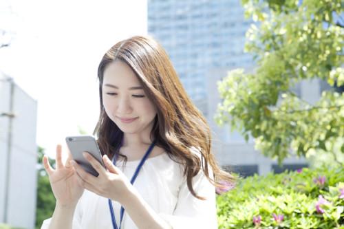 女 春 携帯